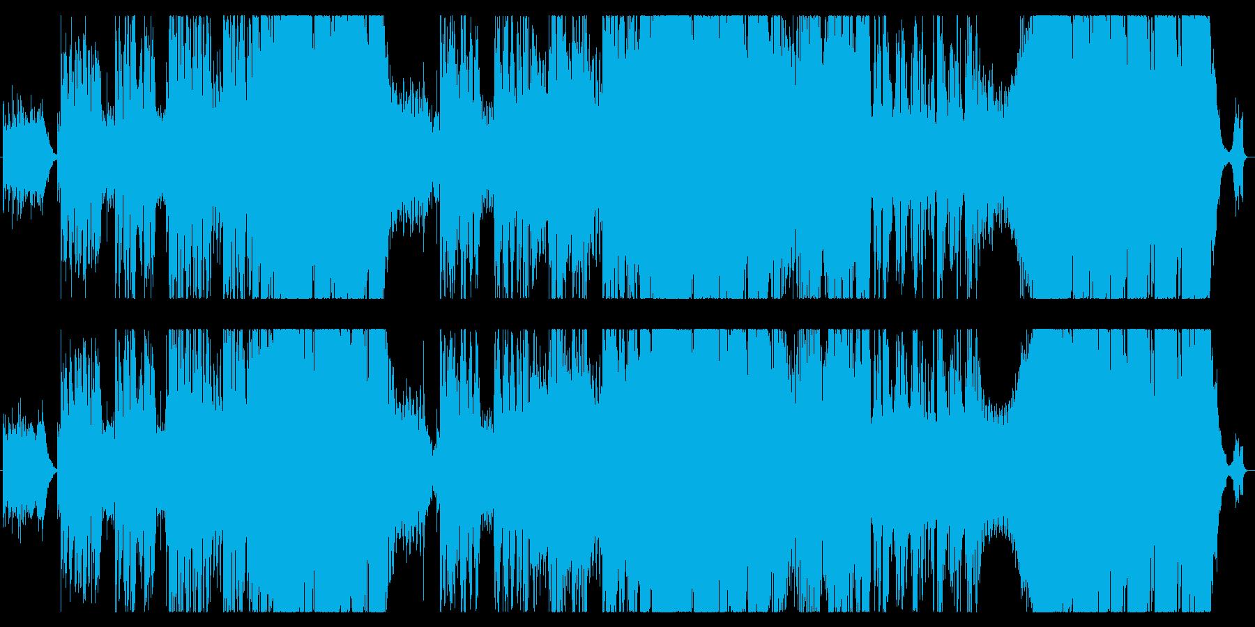カントリーで始まる元気になれるEDMの再生済みの波形
