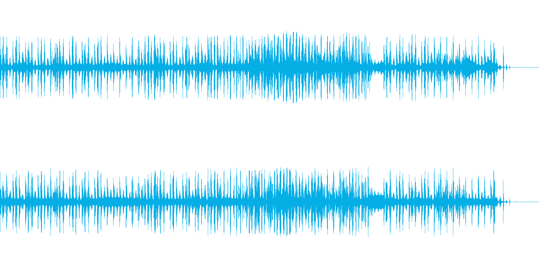 シンセベース素材の再生済みの波形