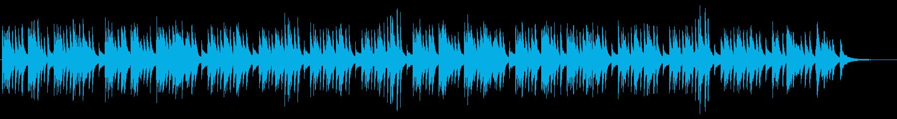 懐かしい和を感じさせるピアノソロBGMの再生済みの波形