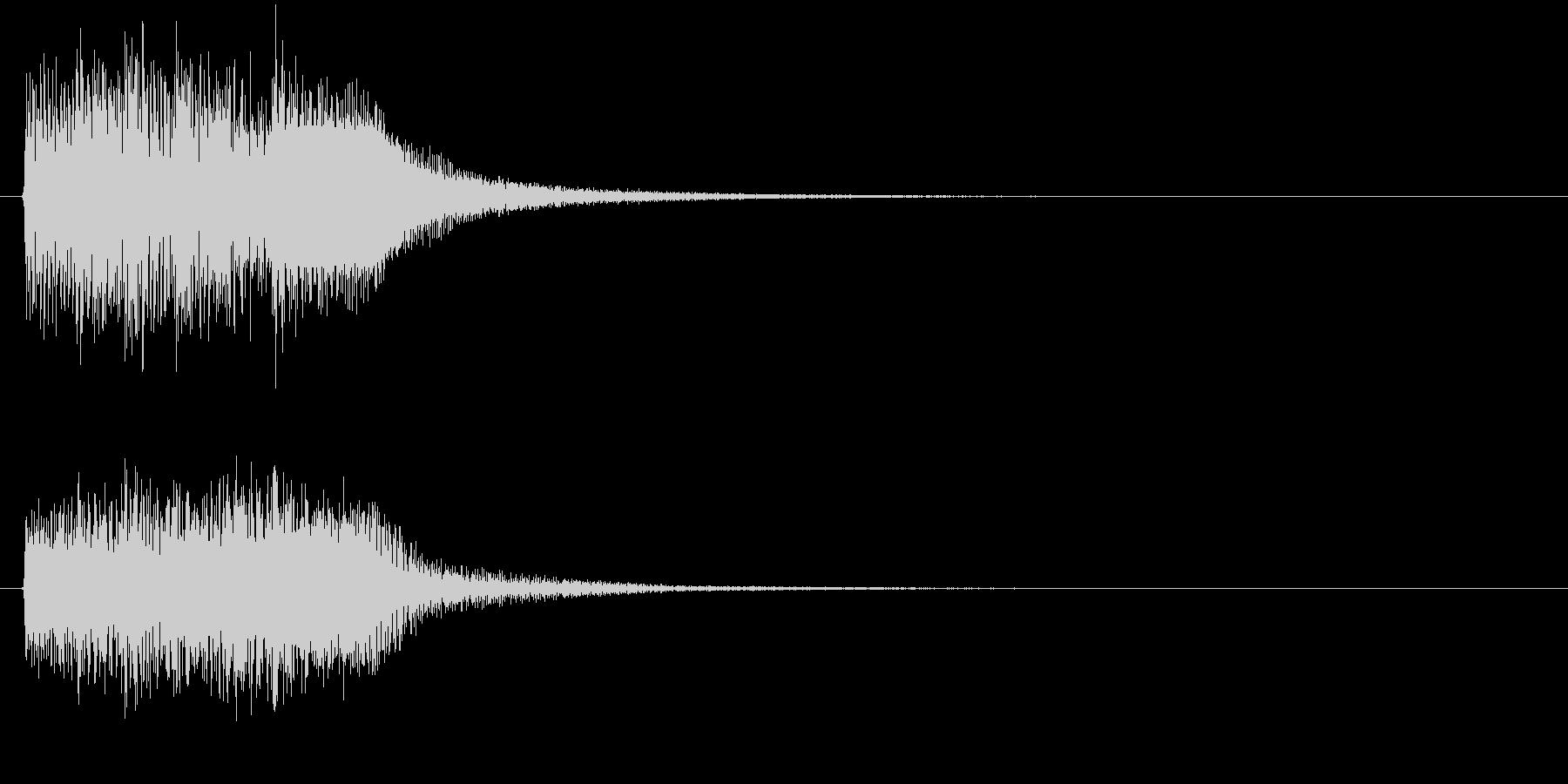 レベル・ステータス変化な効果音 1の未再生の波形