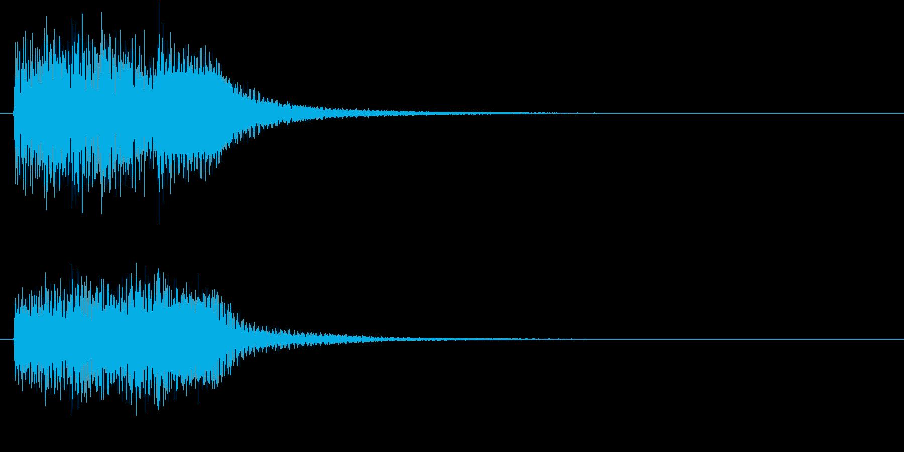 レベル・ステータス変化な効果音 1の再生済みの波形