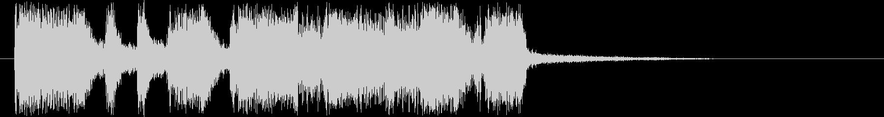 活気のあるギターロック短めジングルの未再生の波形