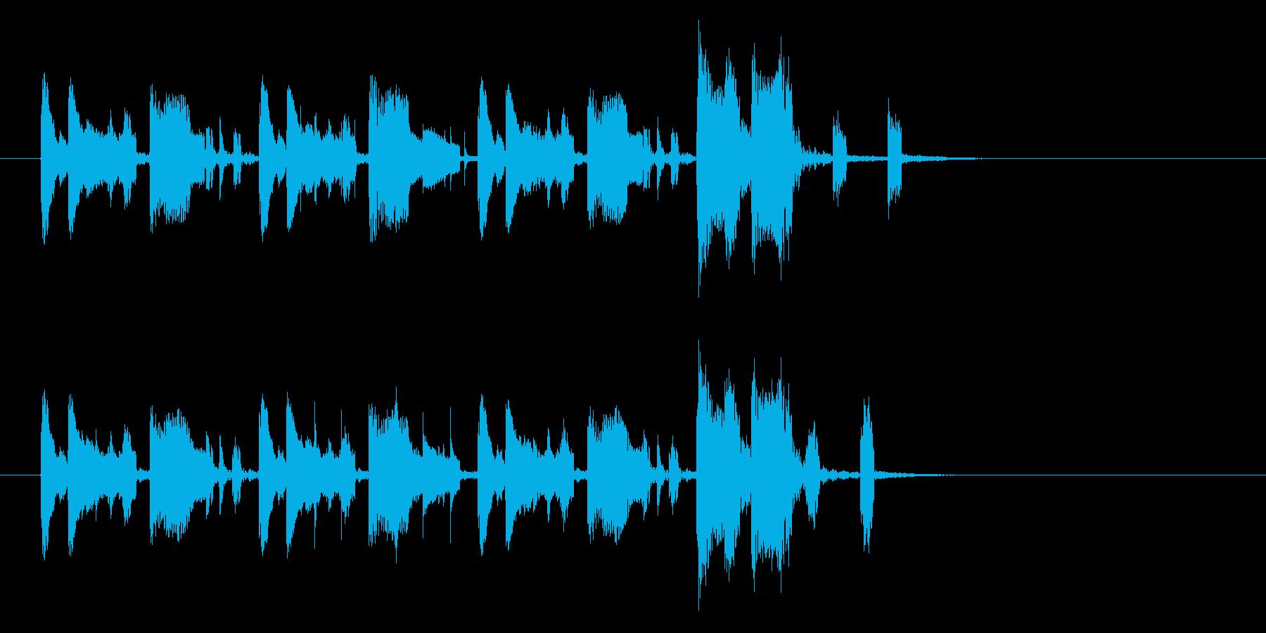シンプルで可憐でキャッチーなジングルの再生済みの波形
