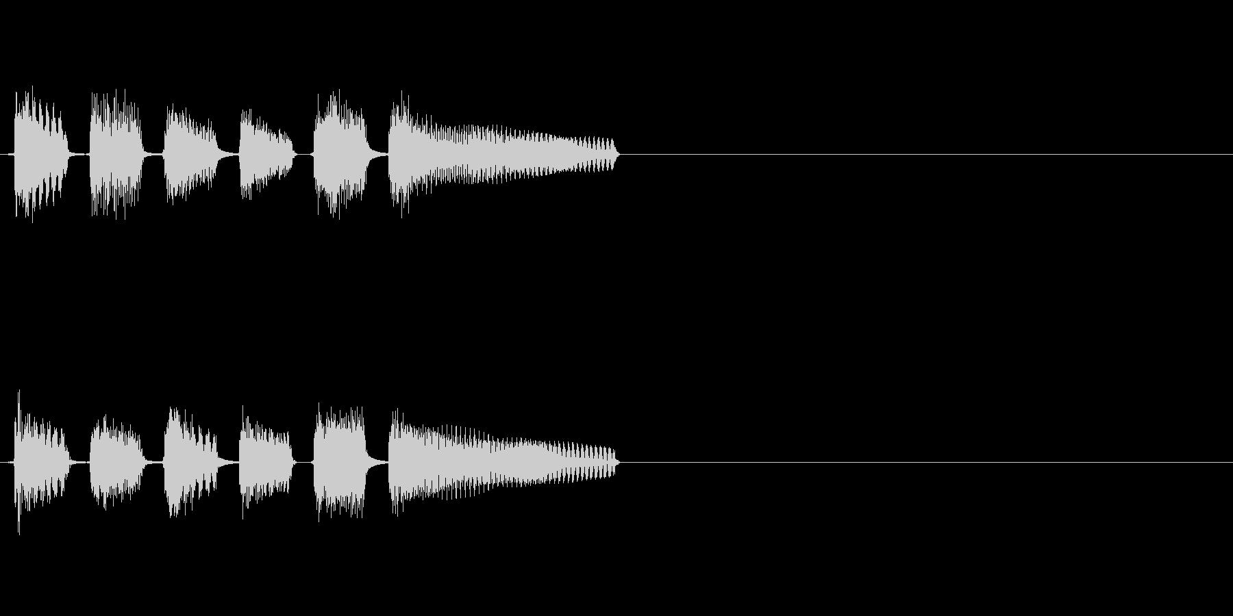 ピンポンパンポンピンポン!という正解音の未再生の波形