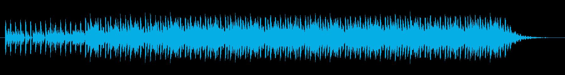 ショートBGM:テクノポップ01の再生済みの波形