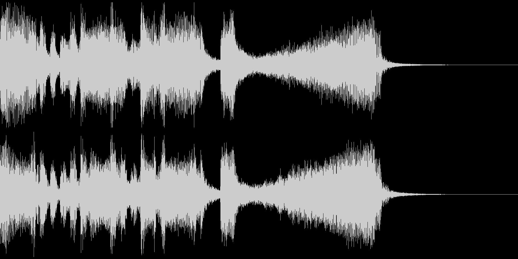 ゲーム等のリザルト画面用BGMの未再生の波形