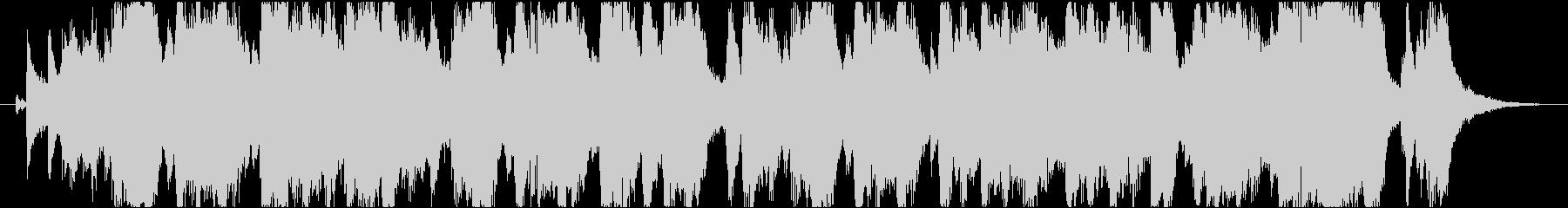 イベント告知や次回予告 軽快なジングルの未再生の波形