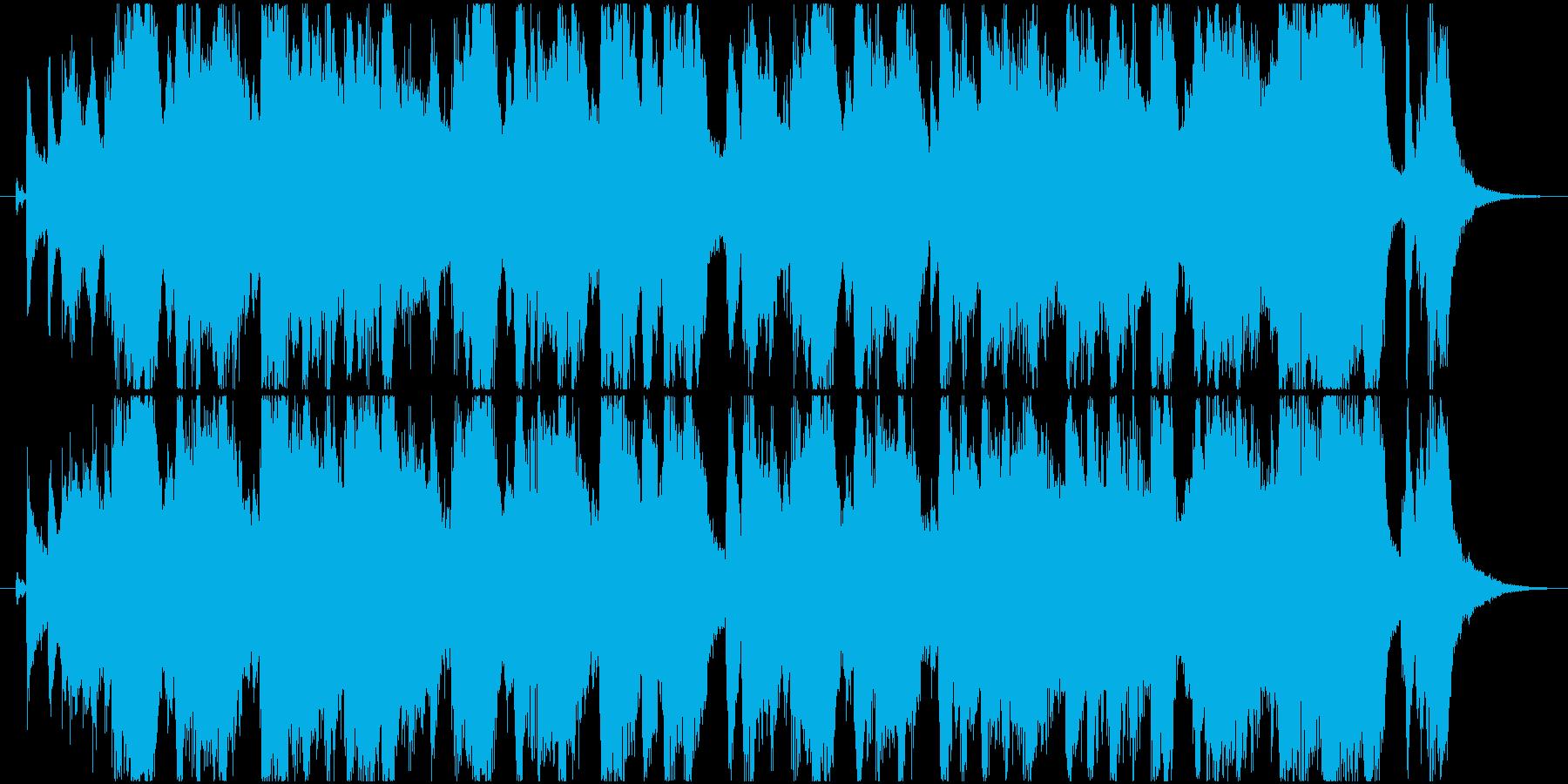 イベント告知や次回予告 軽快なジングルの再生済みの波形