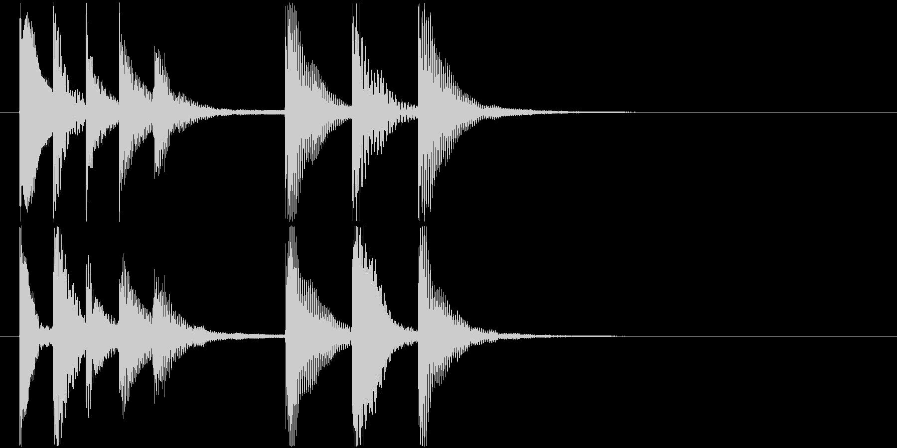 ほのぼのとした雰囲気のジングル2の未再生の波形