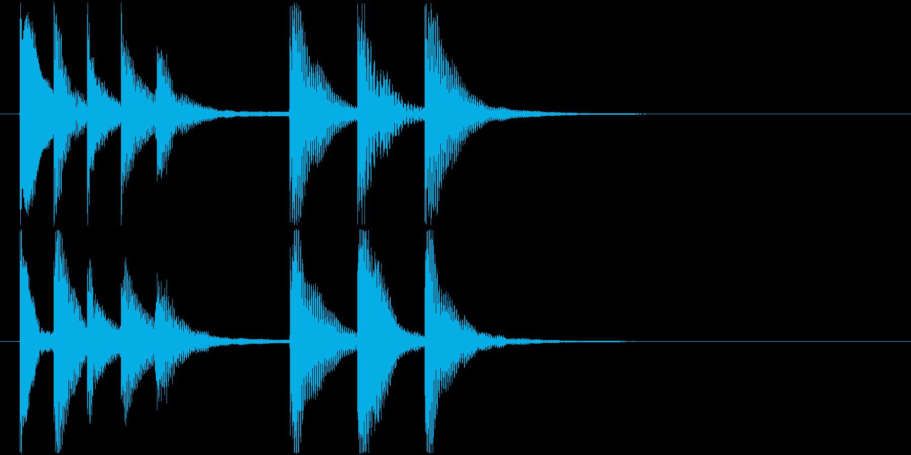 ほのぼのとした雰囲気のジングル2の再生済みの波形