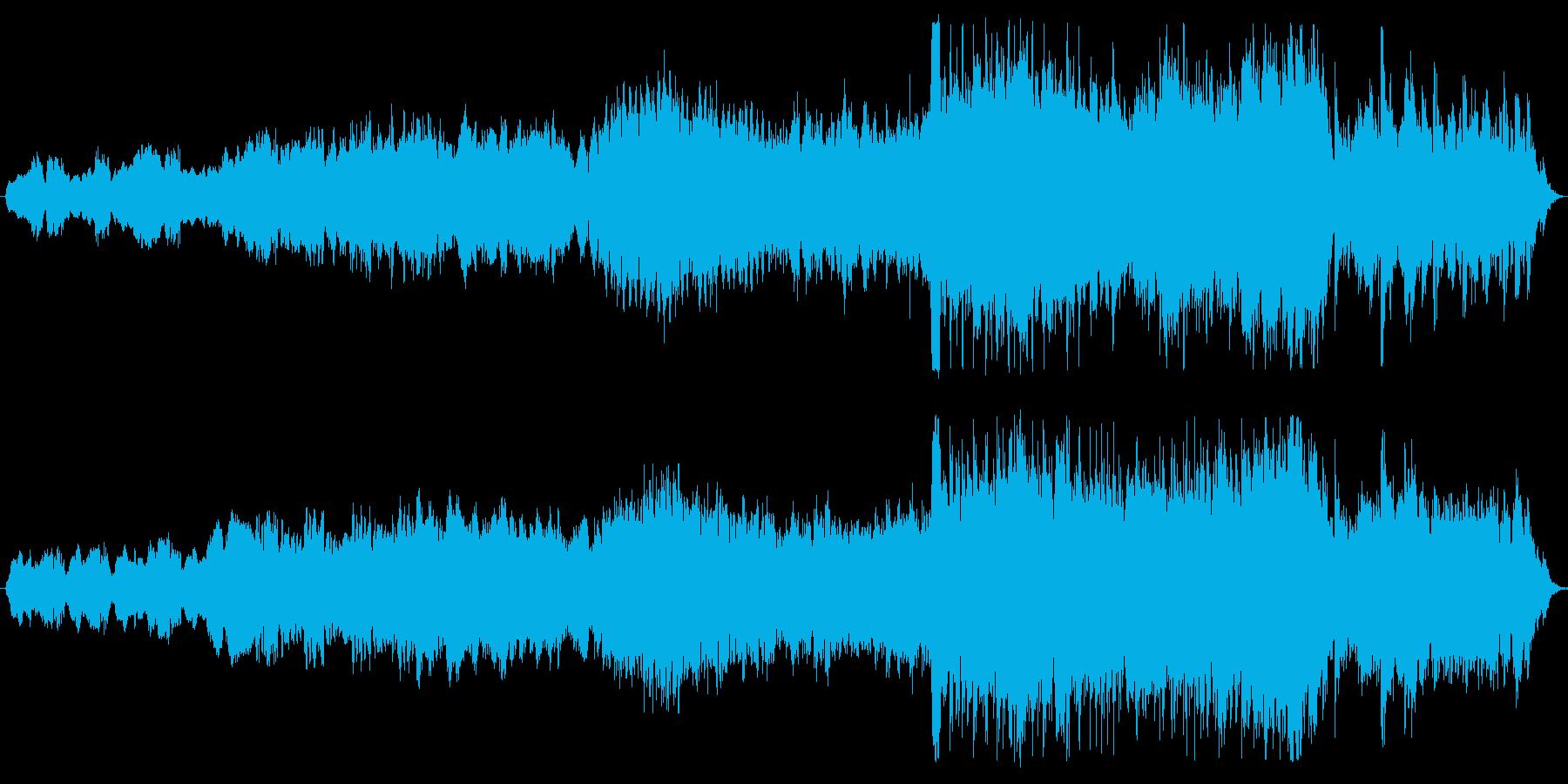 ストリングスの映画音楽の再生済みの波形