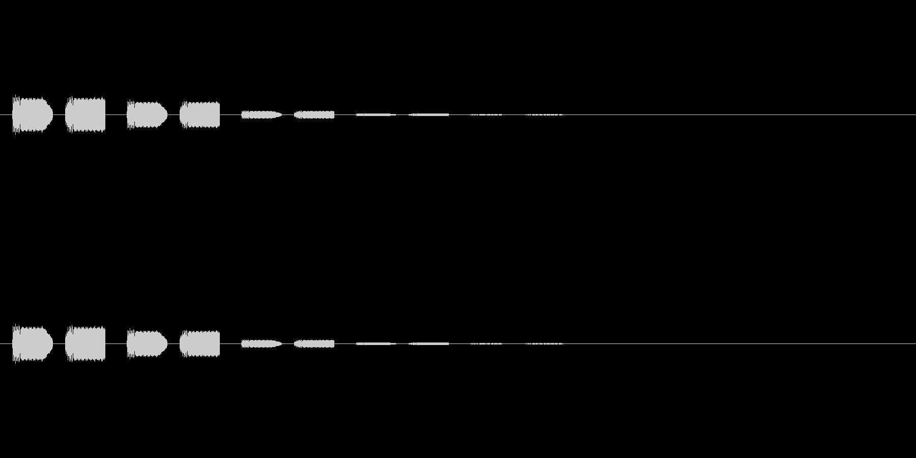 【アクセント08-6】の未再生の波形