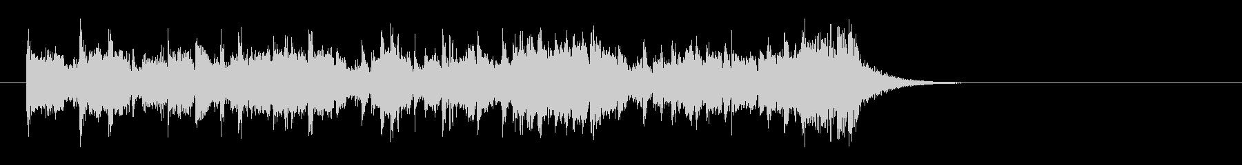 夜のピアノフュージョン(イントロ)の未再生の波形