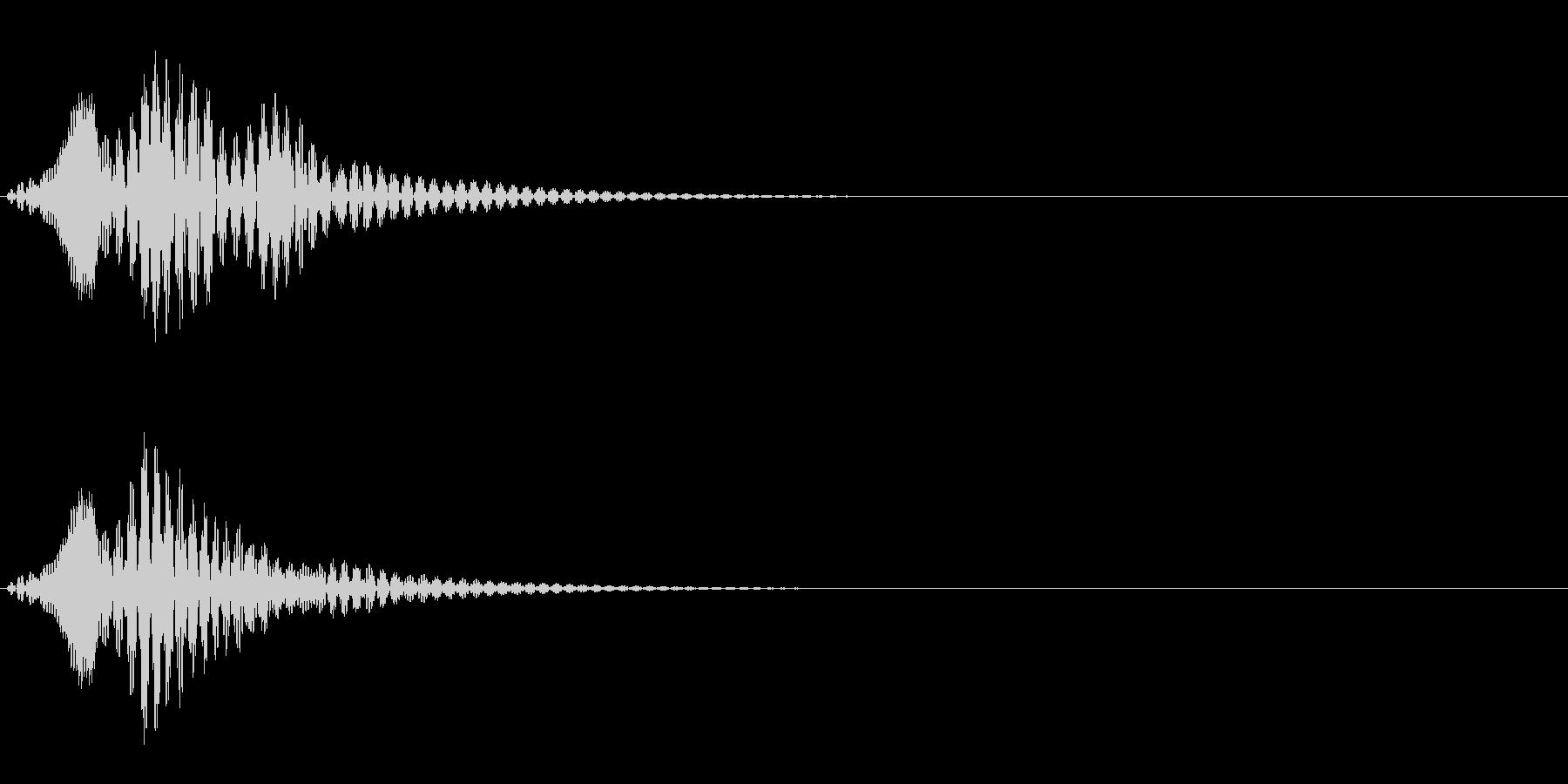 ボワン(状態異常回復の音)の未再生の波形
