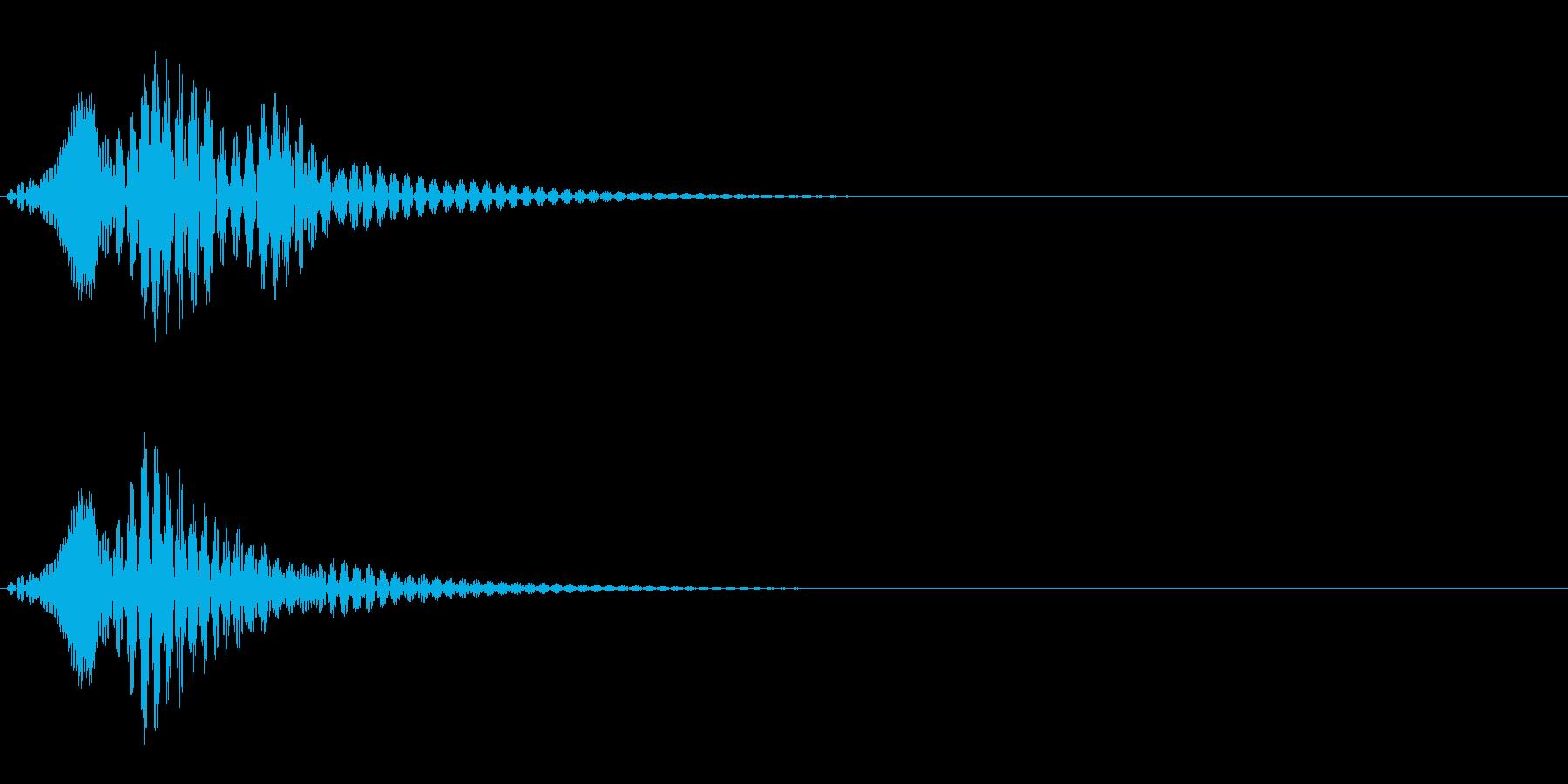 ボワン(状態異常回復の音)の再生済みの波形