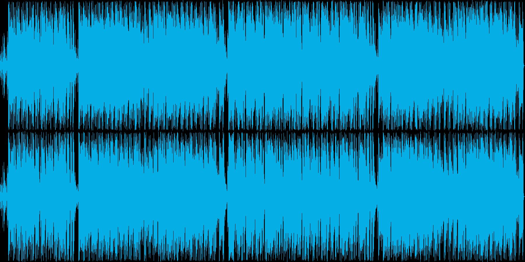 ラテンパーカッションが楽しいアコギの再生済みの波形