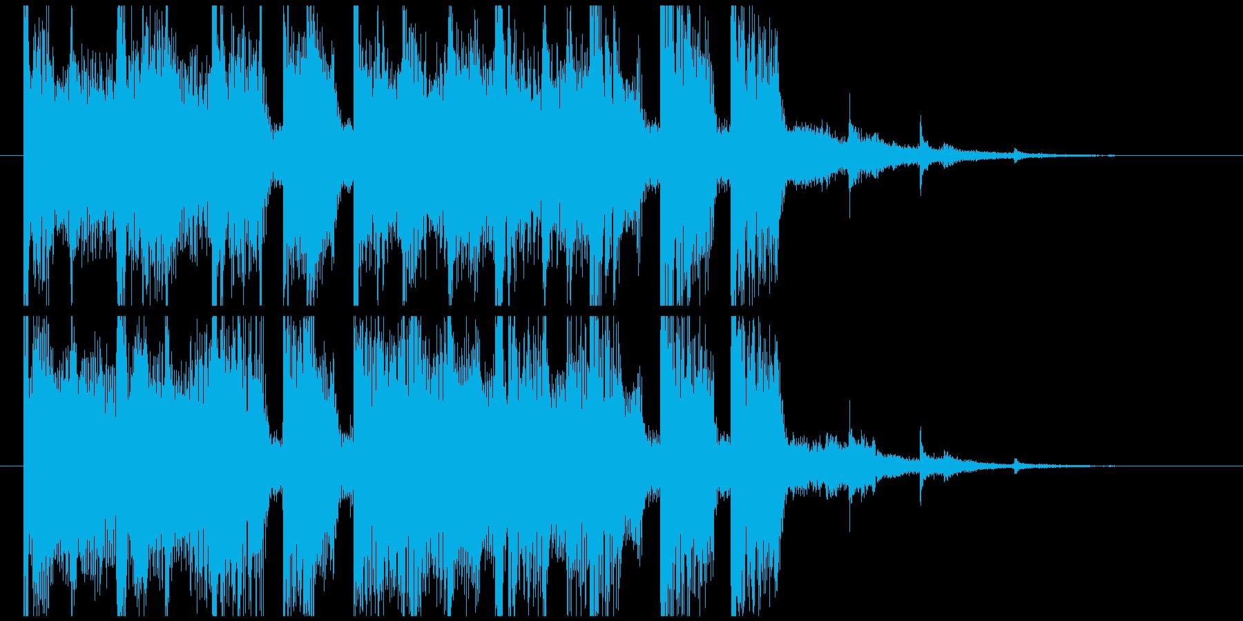 EDMなジングルの再生済みの波形