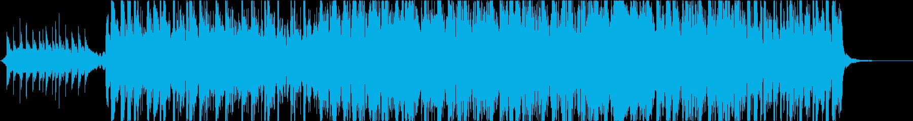 アップテンポな和風曲箏三味線尺八和太鼓の再生済みの波形