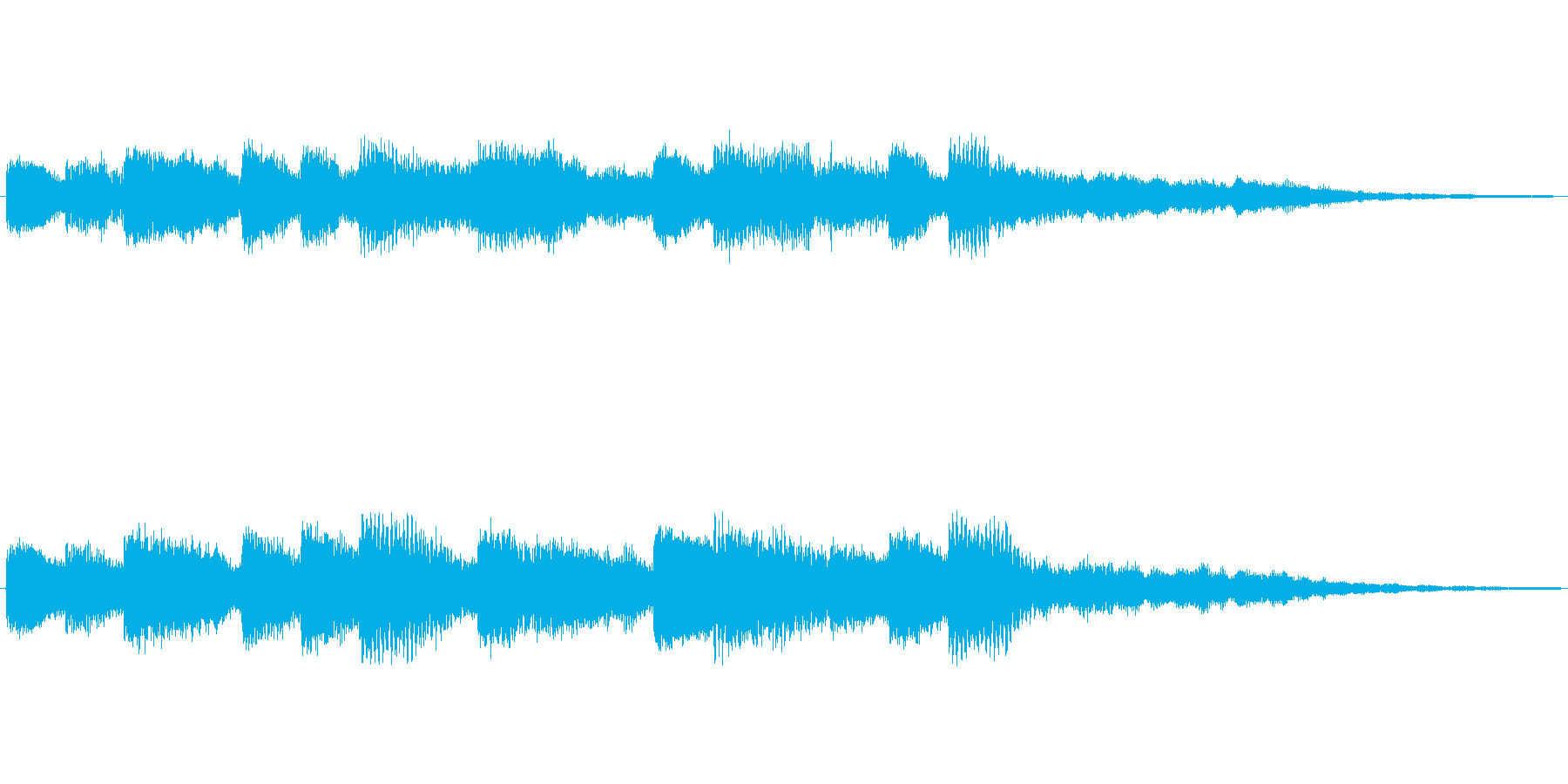 CMや映像に活用できる効果BGM 明る…の再生済みの波形