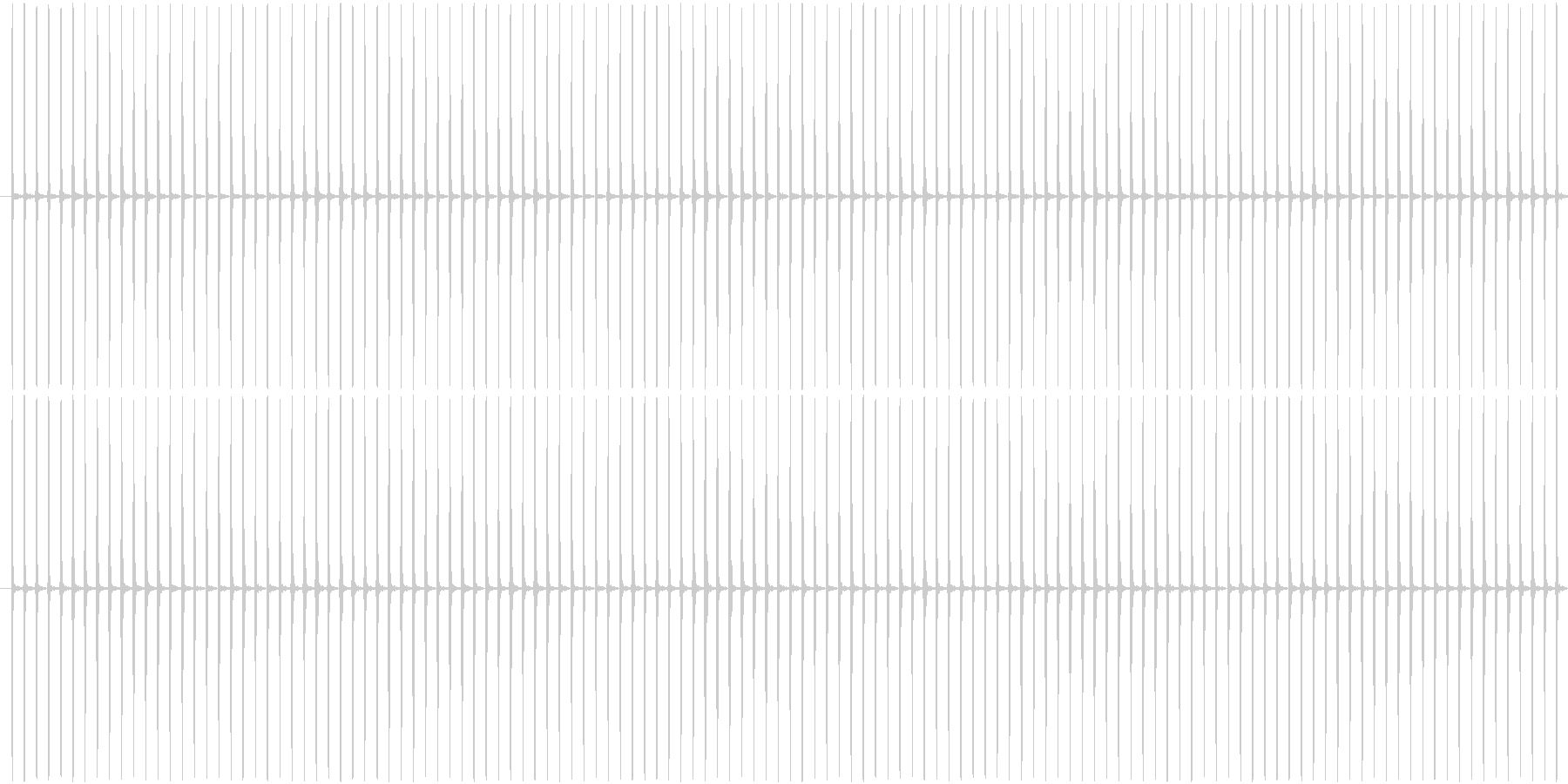 (チッチッ)ストップウォッチの秒針音Aの未再生の波形