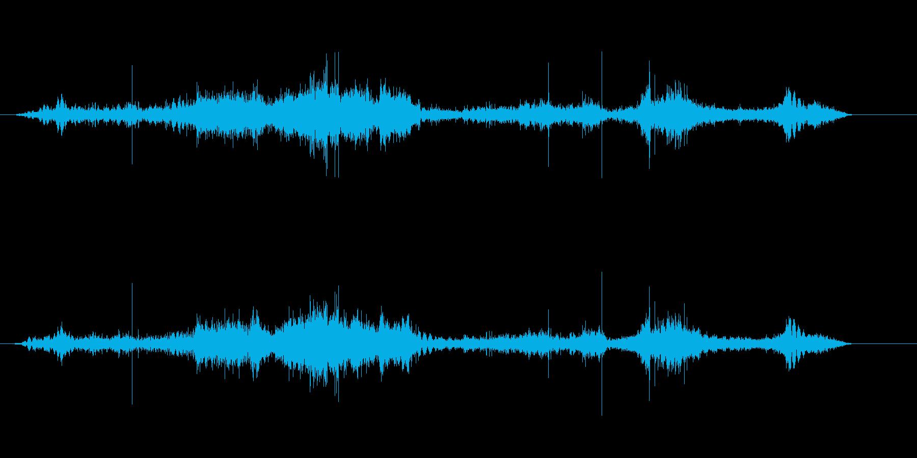 ロープを解く音。の再生済みの波形