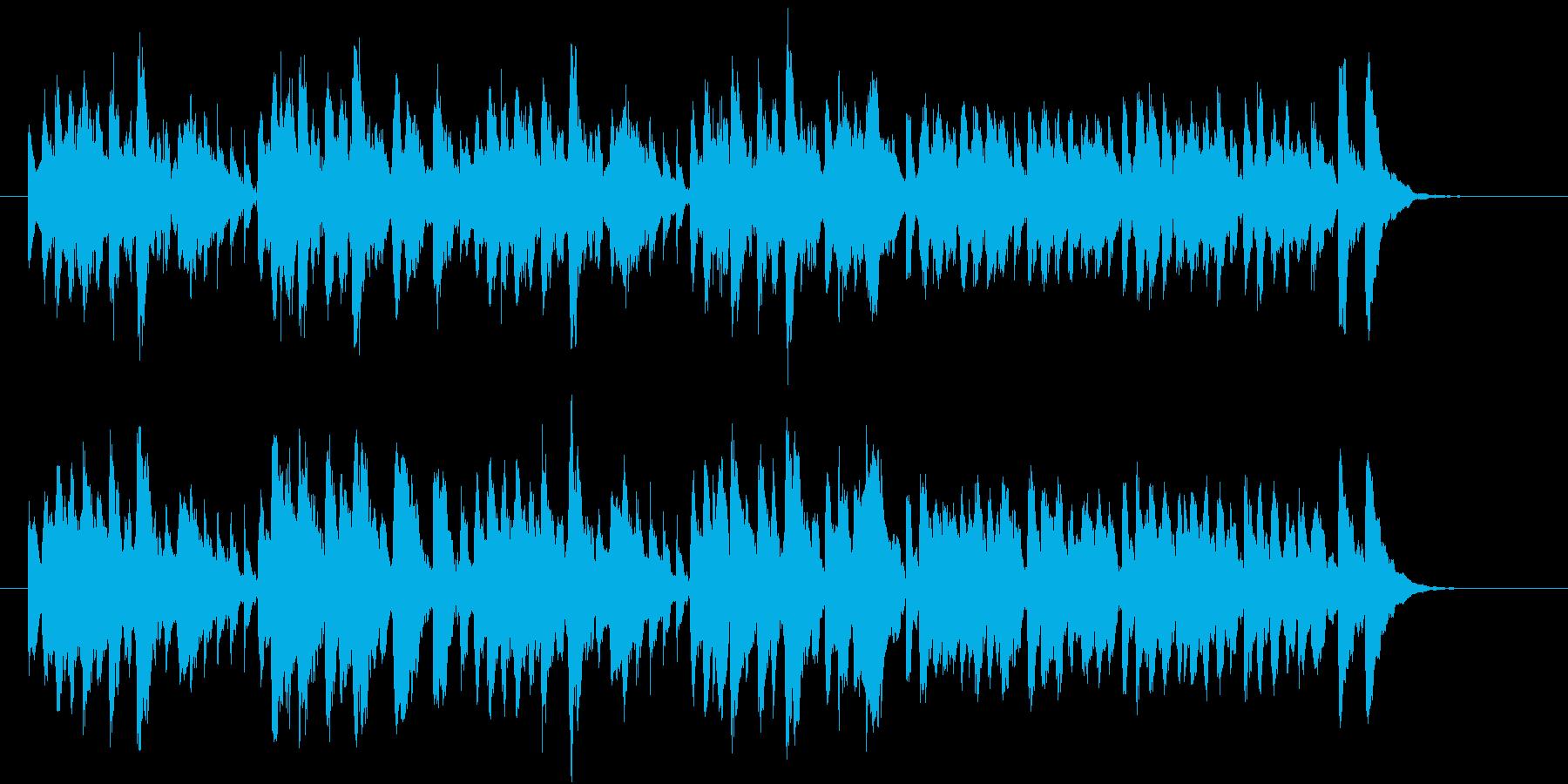 リコーダーが奏でるヒーリングミュージックの再生済みの波形