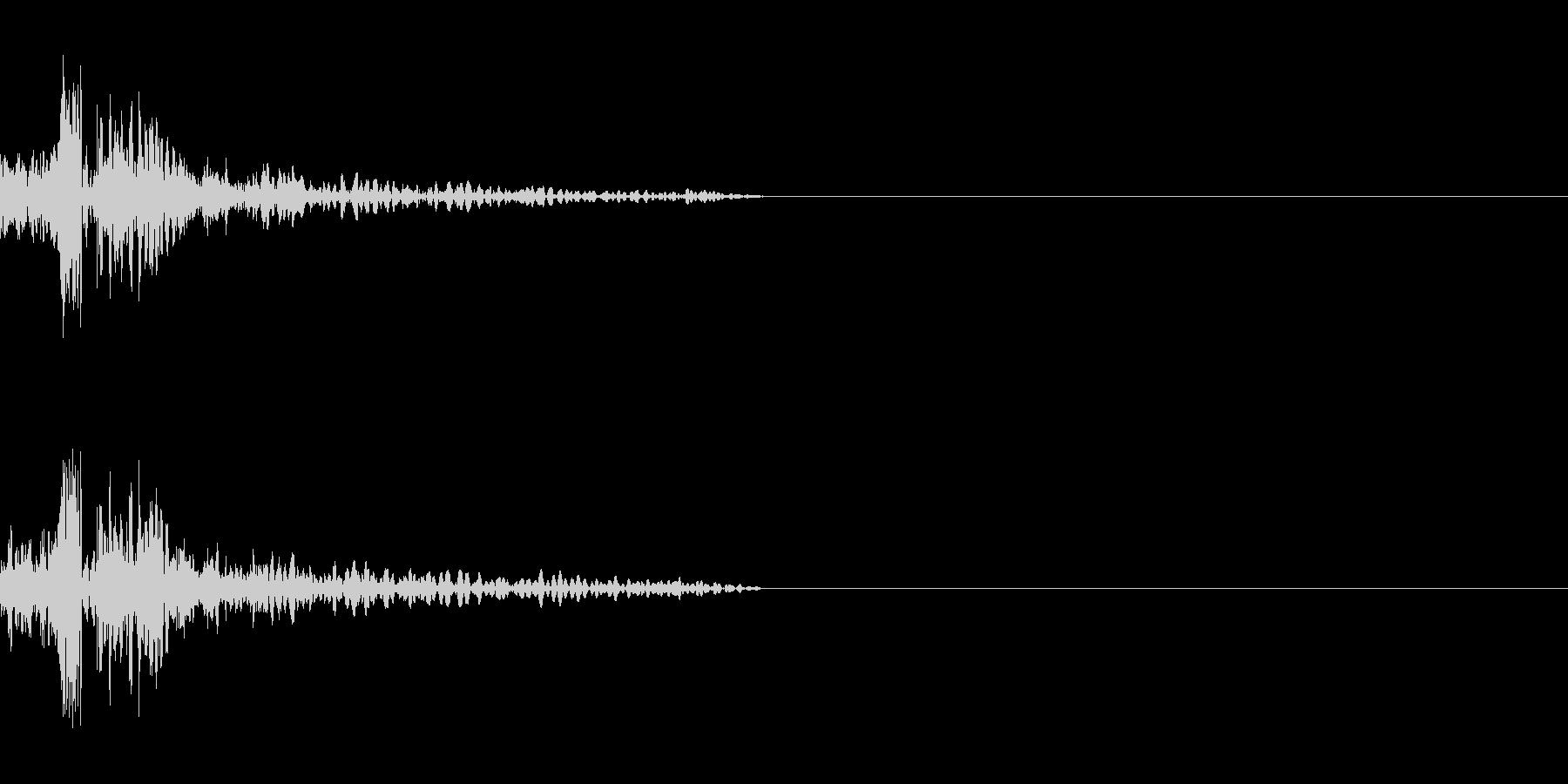 SF系ショットガンの未再生の波形