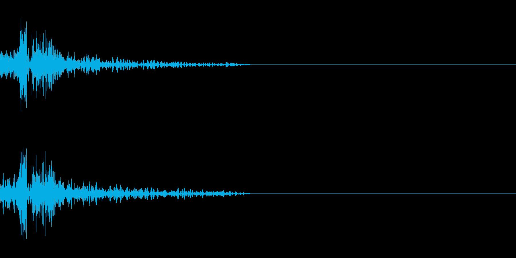 SF系ショットガンの再生済みの波形