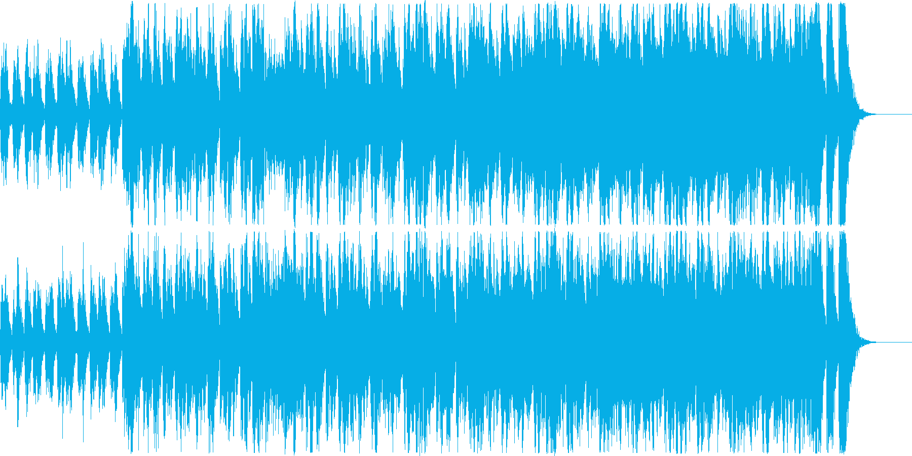 予告向け重々しい雰囲気のオーケストラ楽曲の再生済みの波形