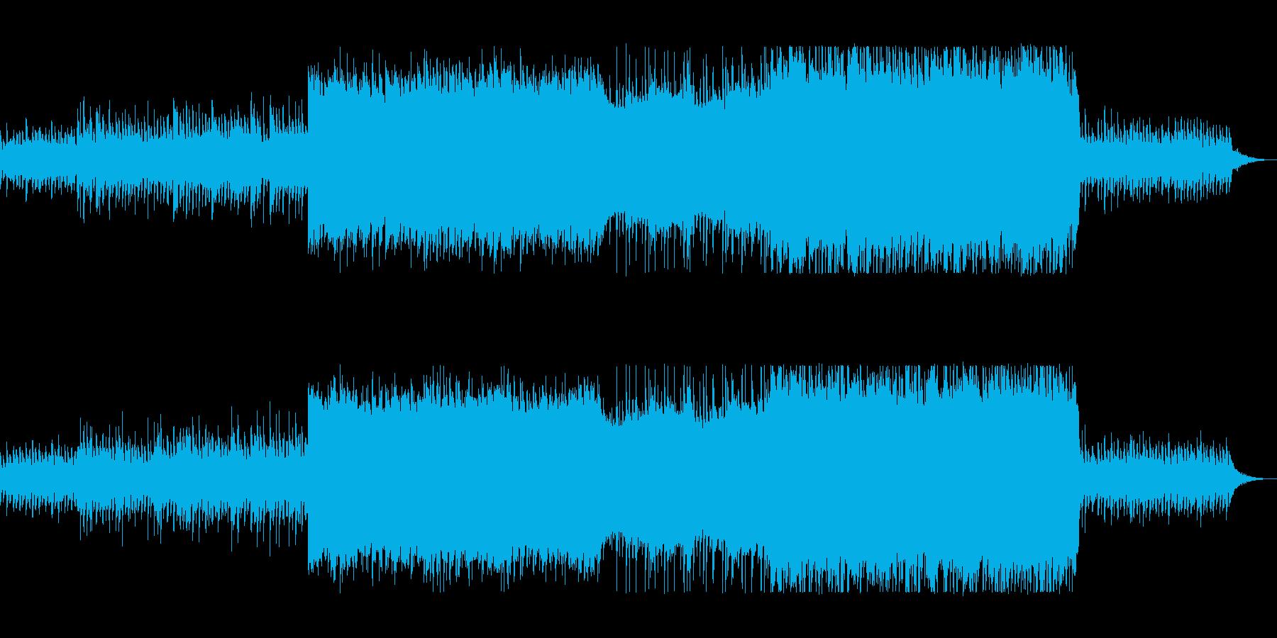おしゃれファンタジーな弦楽器シンセの再生済みの波形