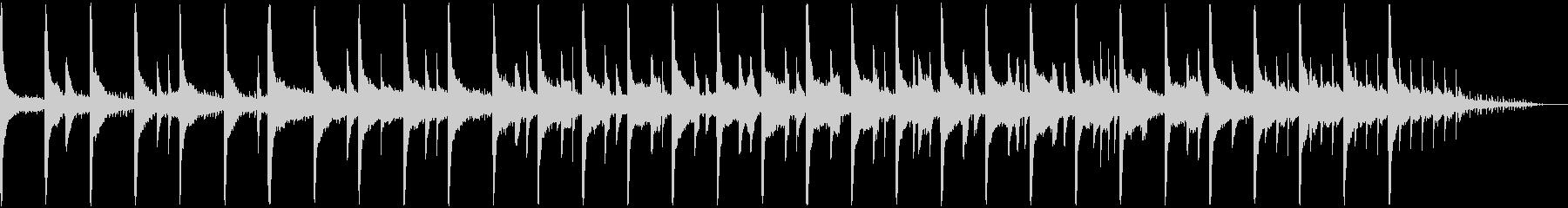 朝露なイメージのピアノの未再生の波形