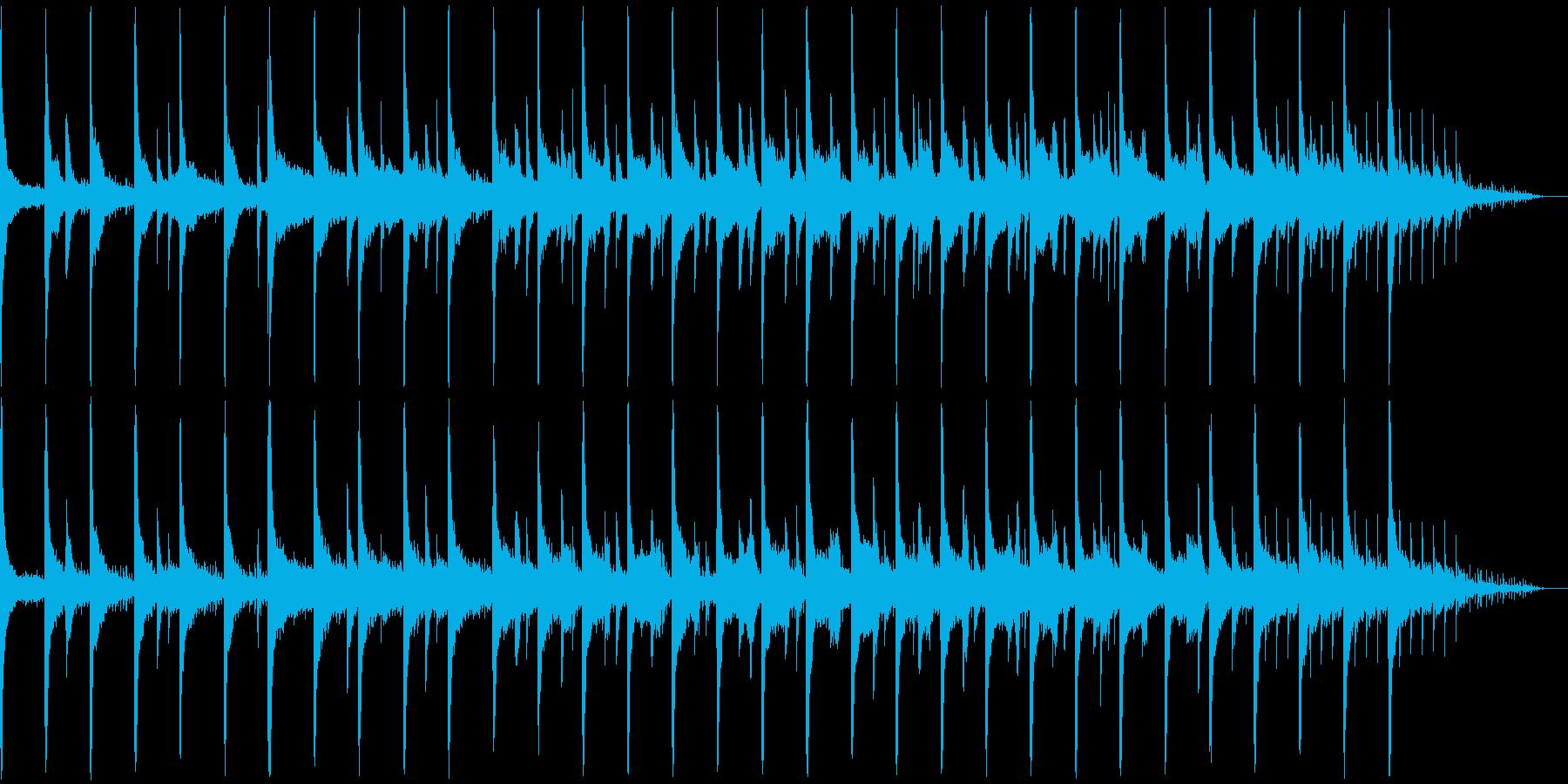 朝露なイメージのピアノの再生済みの波形