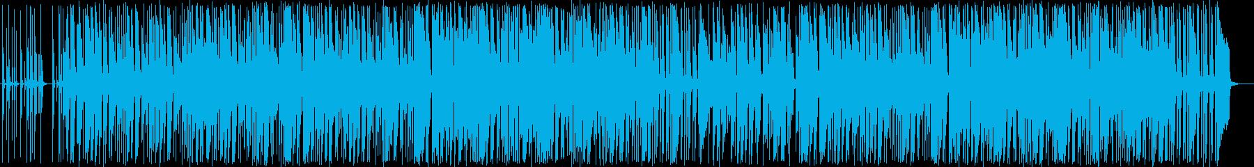 パステルカラーのボッサ風ポップスの再生済みの波形