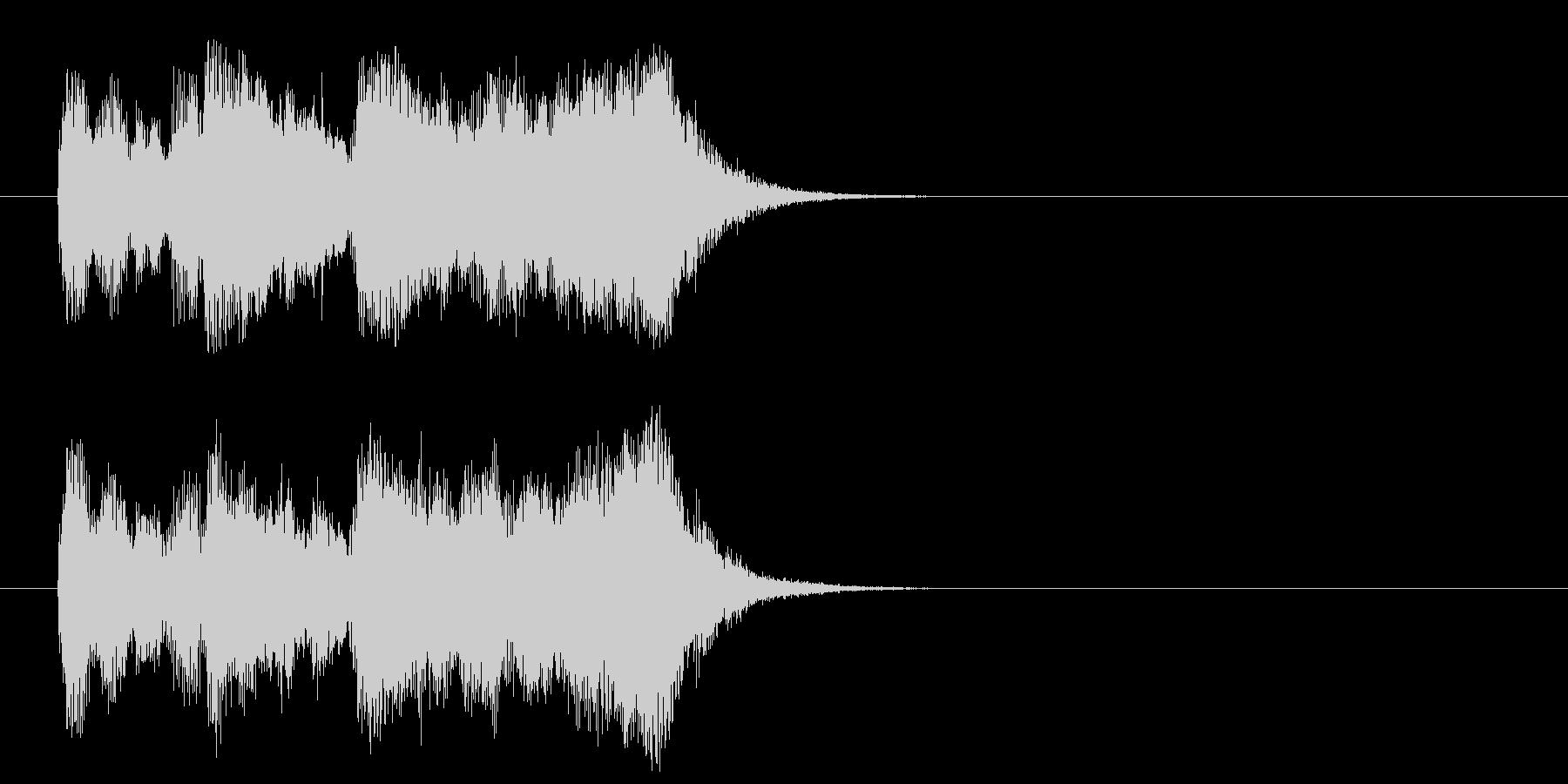 クラシック系ジングルの未再生の波形