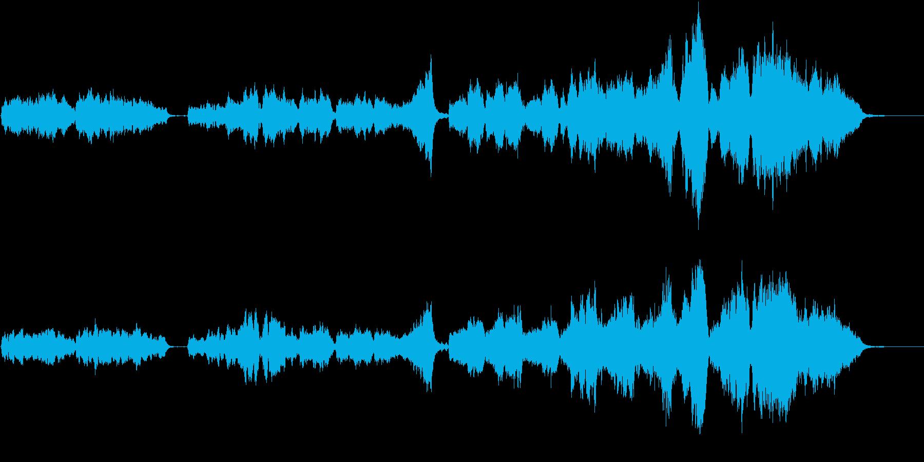 女性スキャットによるアカペラ風の結婚曲の再生済みの波形