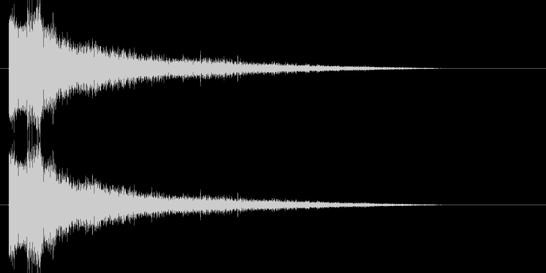 ブシュー(蒸気)の未再生の波形