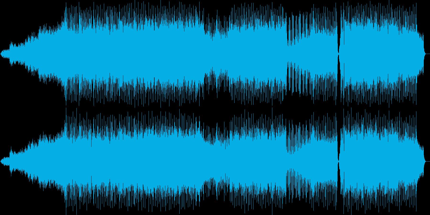 躍動感のあるシンセ・ギターサウンドの再生済みの波形