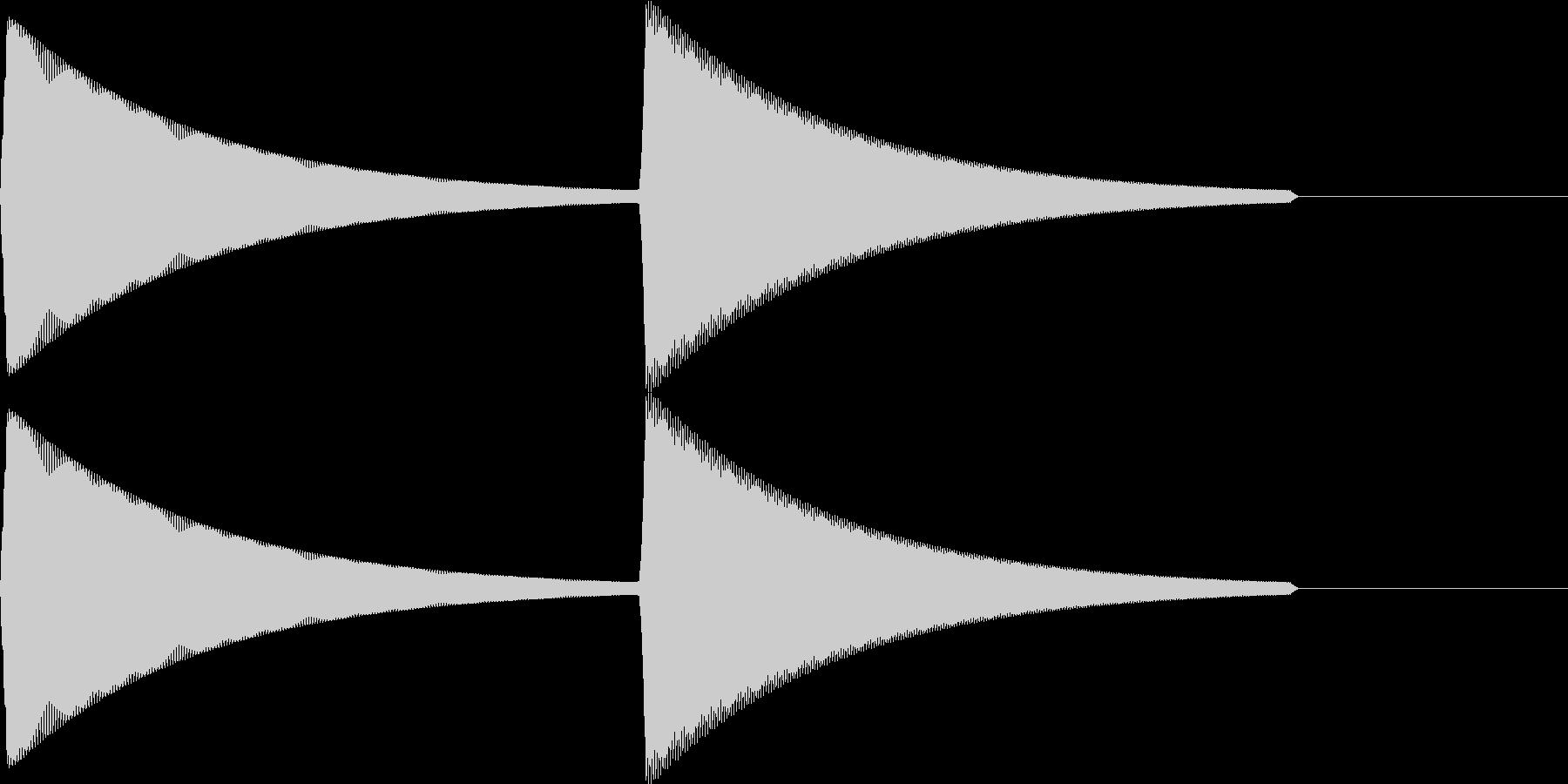 【SE】決定音11(ピピィ)の未再生の波形