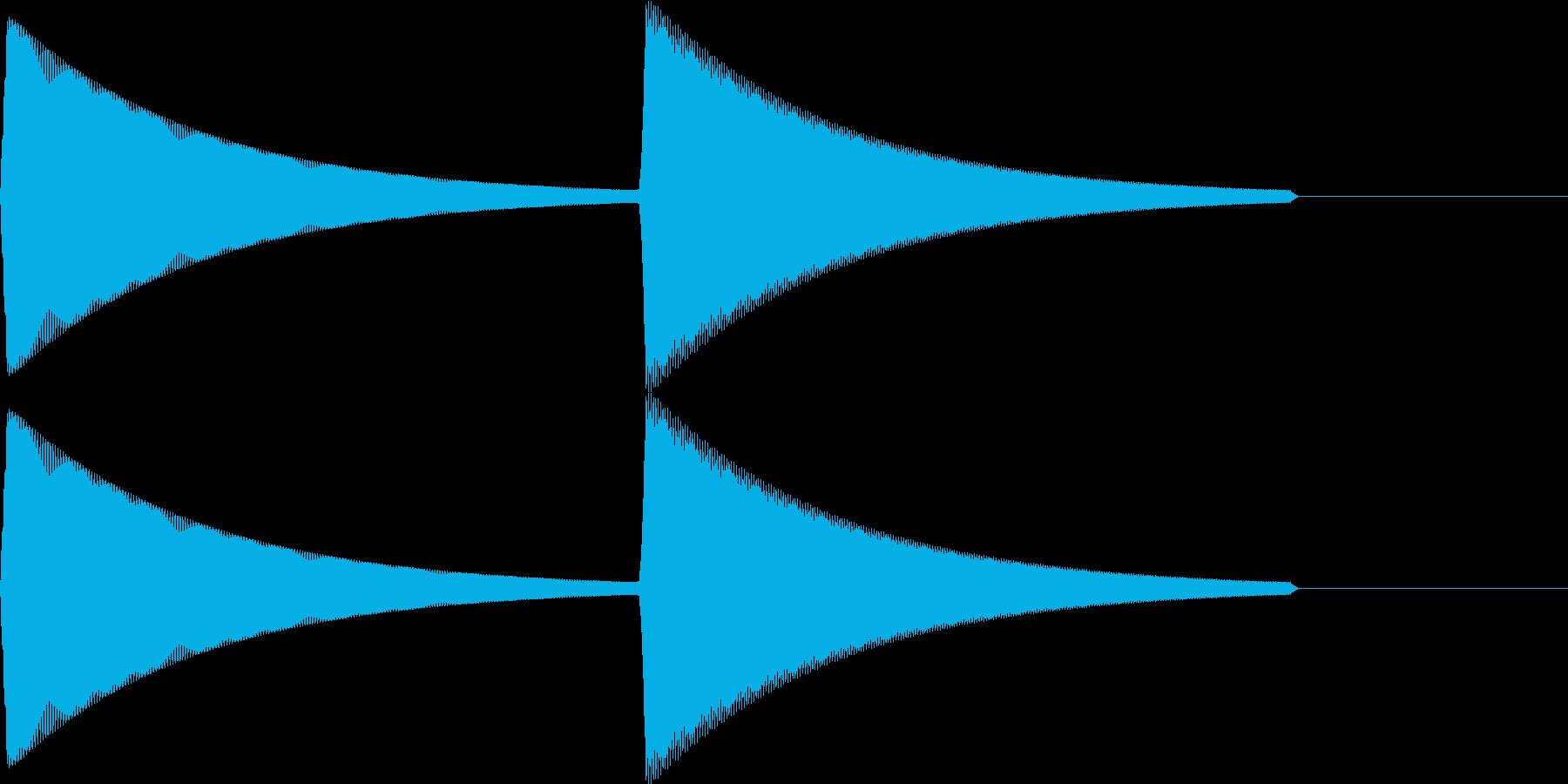 【SE】決定音11(ピピィ)の再生済みの波形
