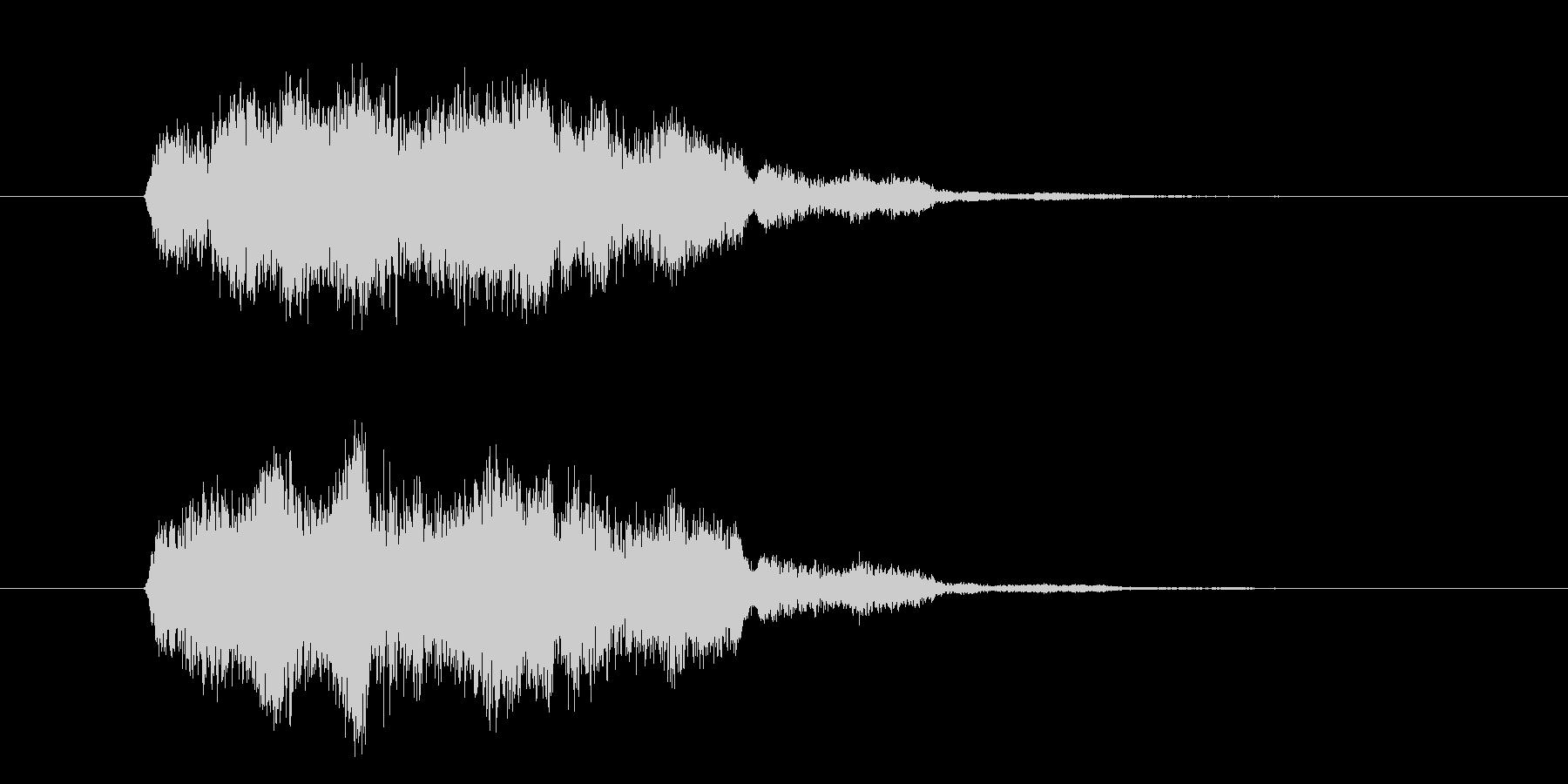明るいカウント音の未再生の波形