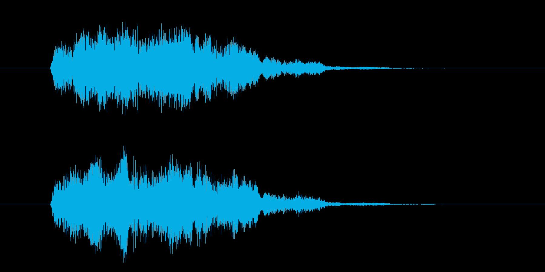 明るいカウント音の再生済みの波形