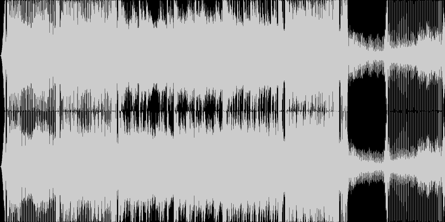 近未来的なイメージの4打ちハウスです。の未再生の波形