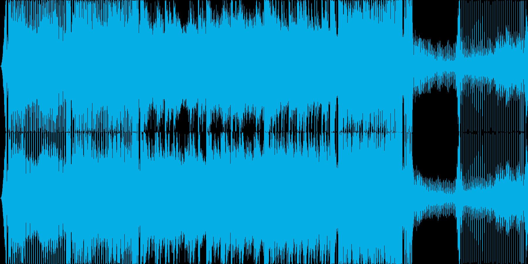 近未来的なイメージの4打ちハウスです。の再生済みの波形