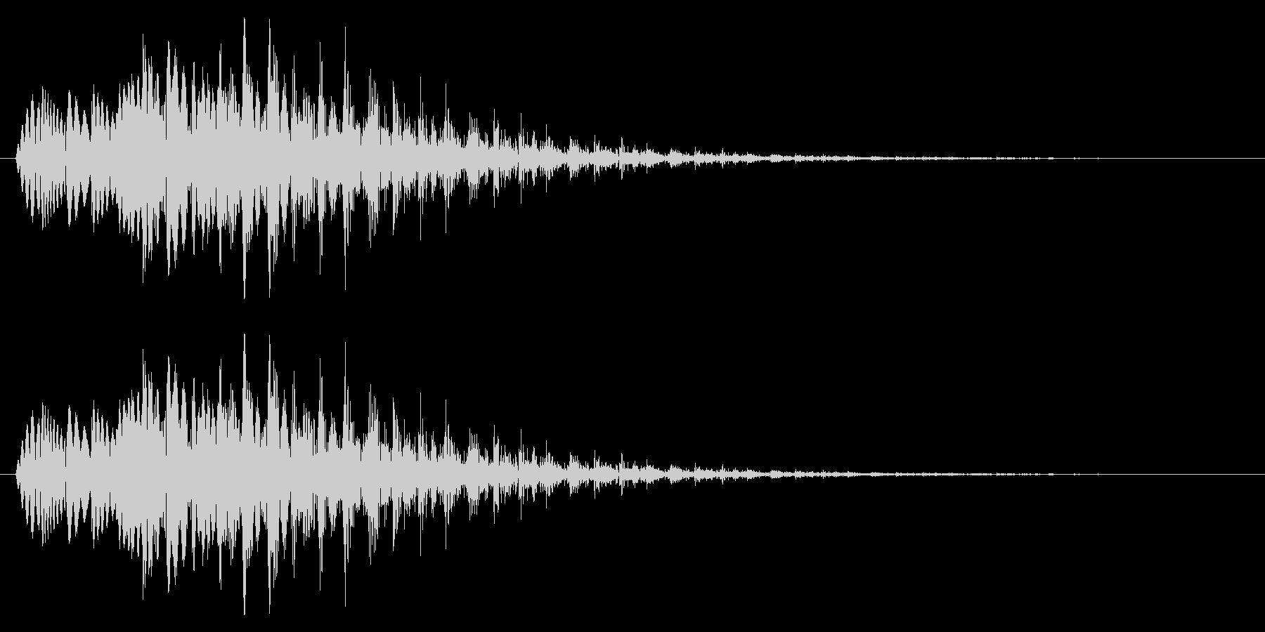 テロップ/場面転換/下がるの未再生の波形