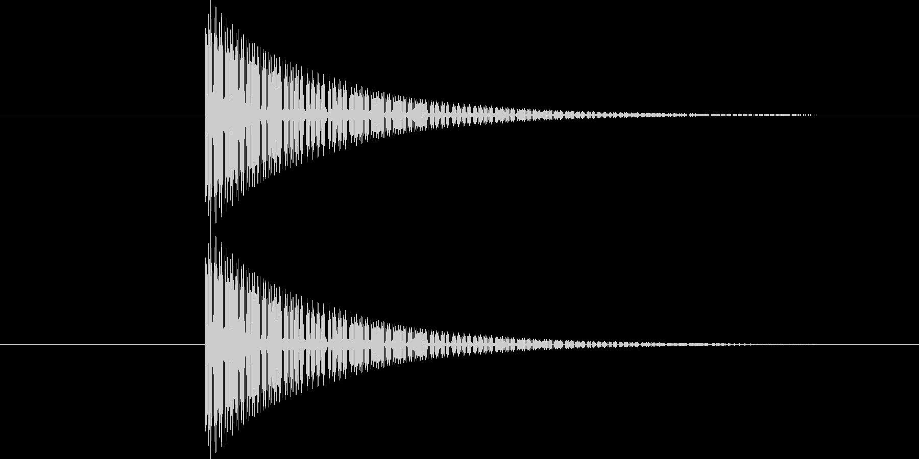 ティン!(8bit風ゲームSE)の未再生の波形
