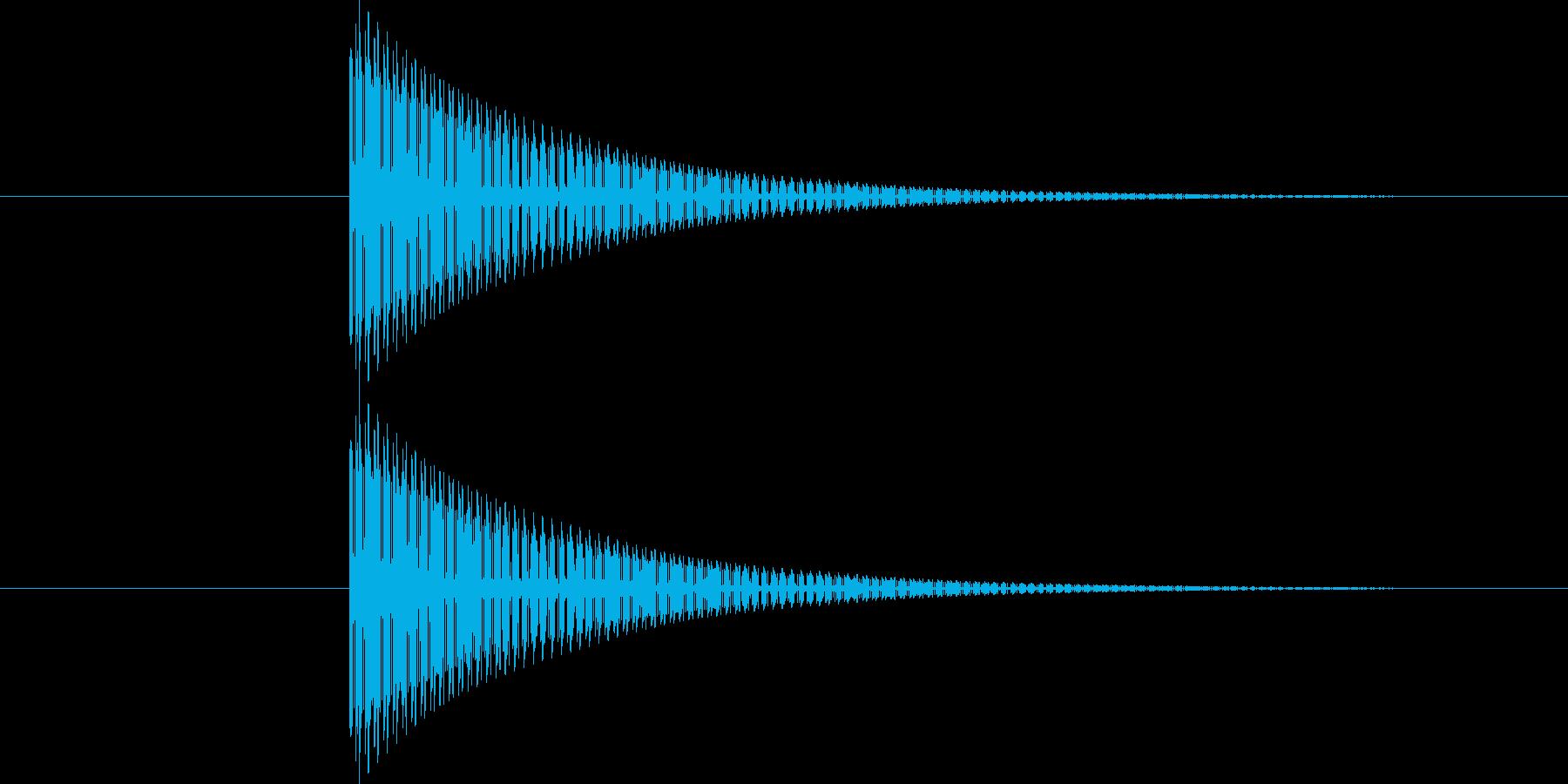 ティン!(8bit風ゲームSE)の再生済みの波形