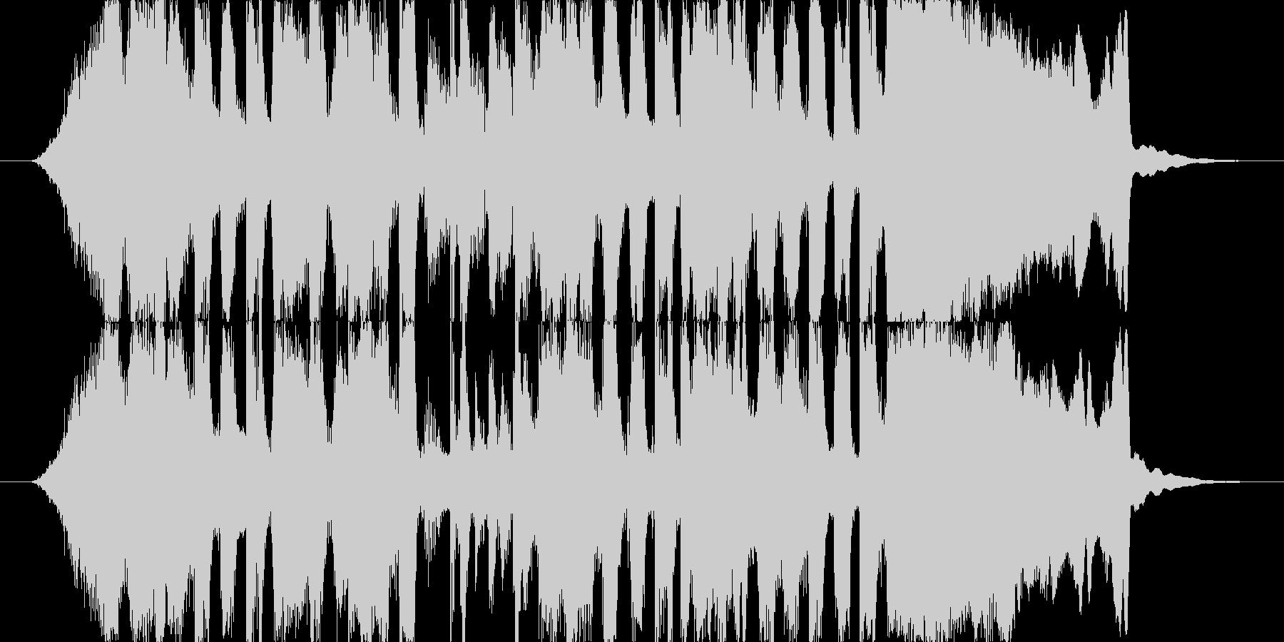 ファンク風ジングルの未再生の波形