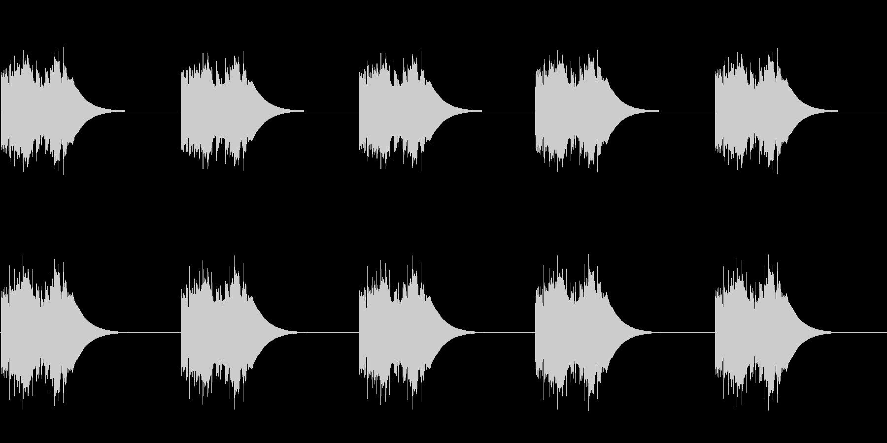 ファンタジー世界にあるような電話 ループの未再生の波形