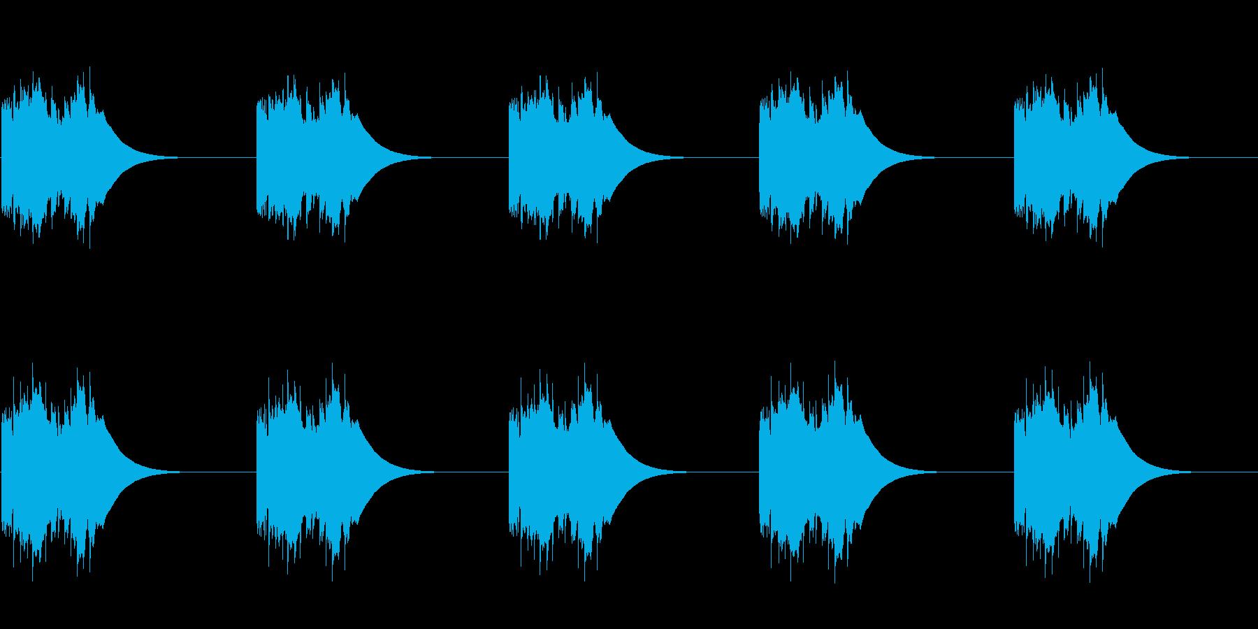 ファンタジー世界にあるような電話 ループの再生済みの波形
