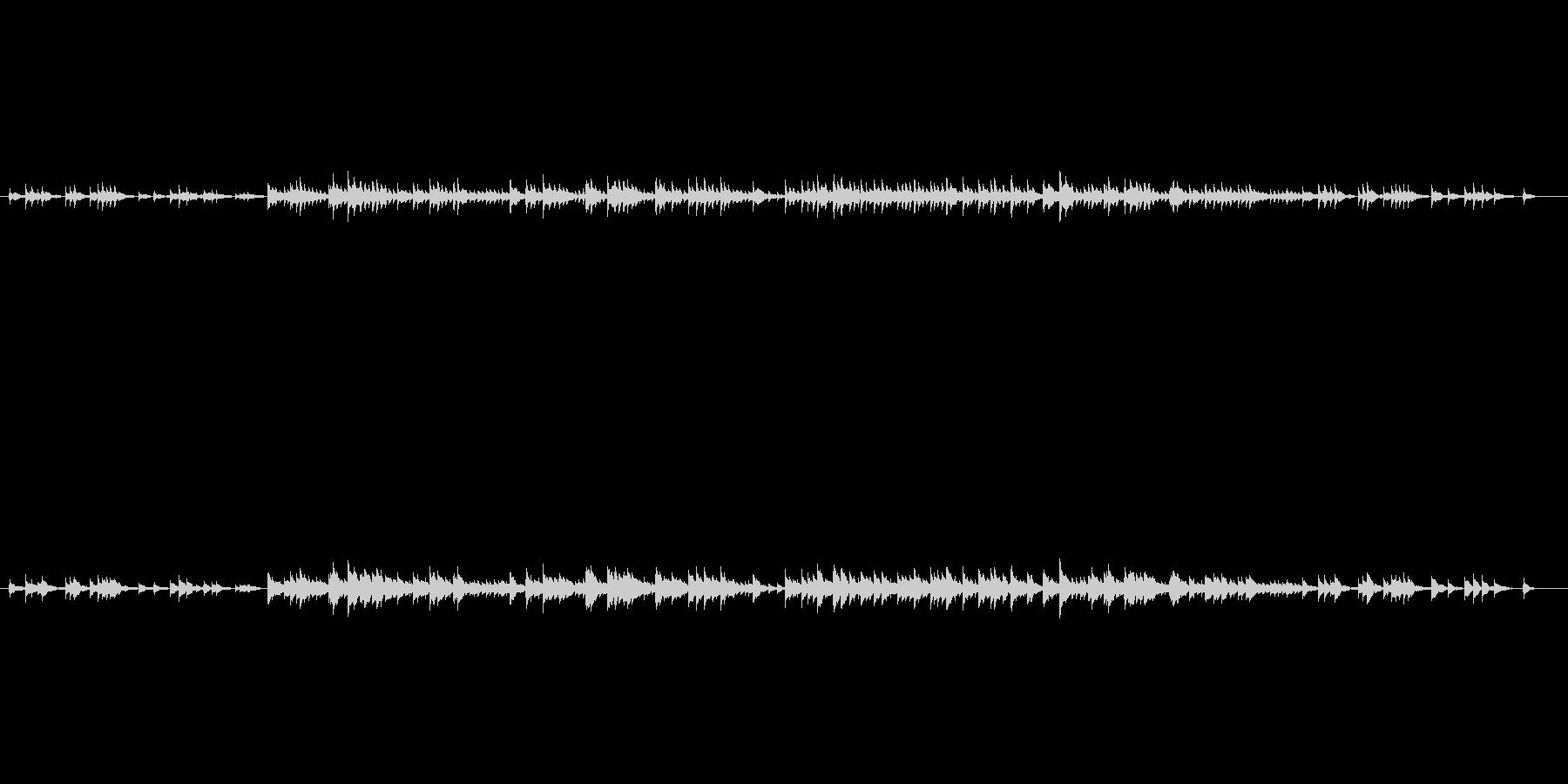 やさしいオルゴールの響きの未再生の波形